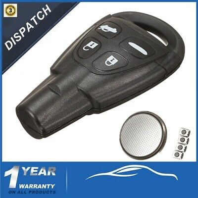 REMOTE KEY FOB Case Shell Repair Kit Replace 4 Buttons For SAAB 93