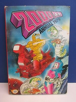 old vintage JUDGE DREDD 2000AD ANNUAL STORY BOOK 1979 HARDBACK fleetway 58z