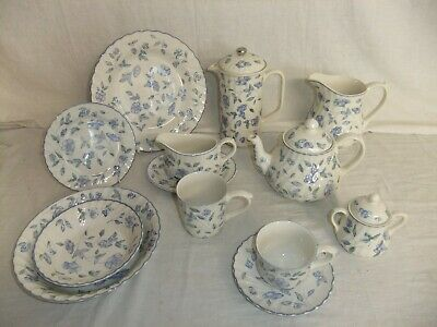 C4 Pottery BHS Bristol Blue - plates, bowls, mugs, teapot, coffee pot 8D2B