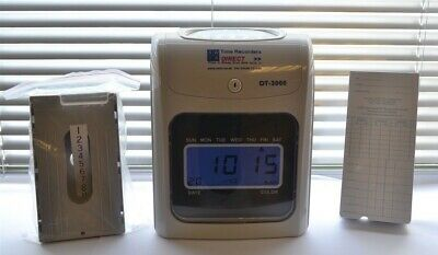 LARGE STOCK Time Recorder Clocking in Clock Machine with Time Cards & Card Rack