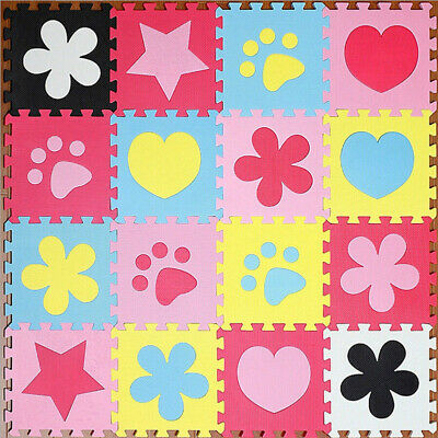 10 x Baby Soft EVA Foam Play Mat Mickey Mouse Puzzle DIY Toy Floor Tile Game