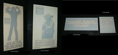 ORIGINAL STAR WARS TRILOGY SPECIAL EDITION Movie Theatre STATIC CLING DECALS