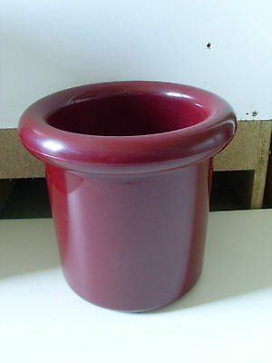 1980s DECOR ICE BUCKET   * MAROON *  BBQ PARTY