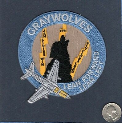 STICKER USN VAQ 142 GREY WOLVES A
