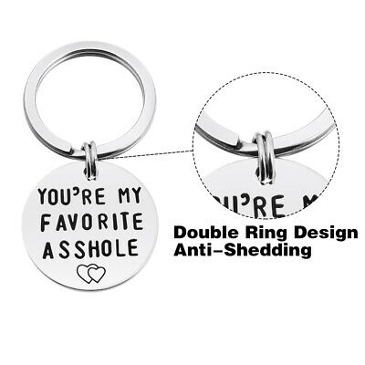 Stainless Steel Lettering  Round Keychain Love Heart Pattern Birthday Gift  HOT
