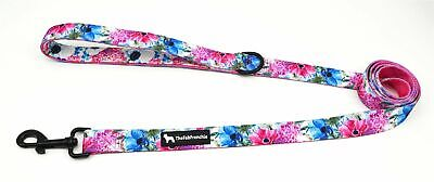 The Fab Frenchie® French Bulldog Floral Bouquet Padded Handle Leash