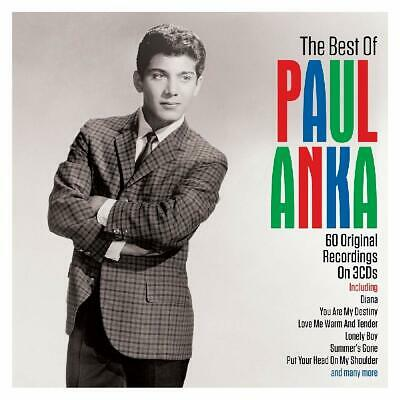 Paul Anka - The Best Of / Greatest Hits / 60 Original Recordings 3CD NEW/SEALED