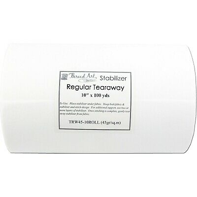 "MEDIUM WEIGHT TEARAWAY EMBROIDERY MACHINE STABILIZER BACKING - 10""x100yd ROLL"