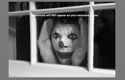 Creepy Clown Evil Grin PHOTO Freak Scary Child Weird Strange Stalker