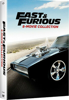 Fast & Furious 8-Movie Collection - 9 DISC SET (2017, DVD New)