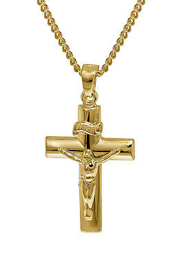 Trendor Jewellery Gold Pendant Crucifix with 42 cm Gold-Plated Necklace