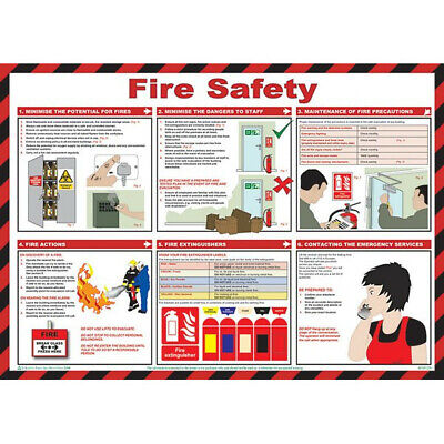Fire Safety Poster 59cm x 42cm Safety First Aid A616T