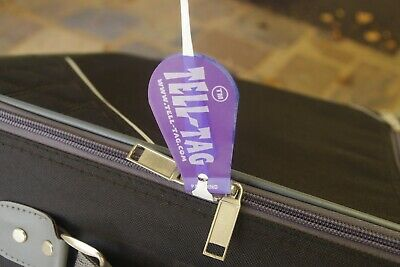 Tamper Evident Baggage Tags with Tell-Tag Zip-Lock Technology (5 Pack)