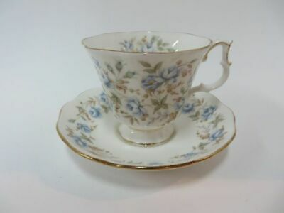 Royal Albert Rose Chintz Series Blue Gown Teacup & Saucer Petit Flowers