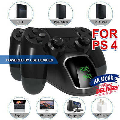 DOBE PS4 LED Controller Dual Shock Charger Station Docking Charging 4