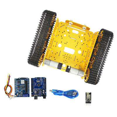 WiFi Smart Tank Chassis Remote Control Platform Car Kit for Arduino Toy Gold