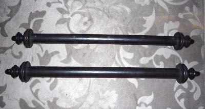 """PAIR OF ANTIQUE FRENCH MAHOGANY SCROLL DOWELS  & FINIALS  17"""" W   ca.1848"""