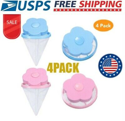 4 Pack Portable Floating Pet Fur Catcher Reusable Hair Remover Washing Machine