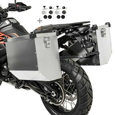 Alu Side cases 36l-41l with kit 18mm for BMW R 1200 GS Adventure/ Exclusive