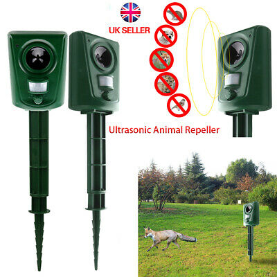 New PIR Motion Sensor Ultrasonic Cat Fox Repeller Garden Animal Scarer Deterrent