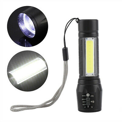 T6 COB Mini Flashlight Zoomable LED Torch Battery USB Rechargeable Light Lamp UK