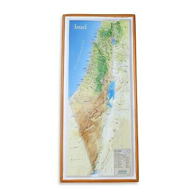 Israel Topographical modern map - indicates places that Jesus has visited