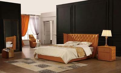Designer Double Bed Bed Beds Leather Chesterfield Hotel Luxury