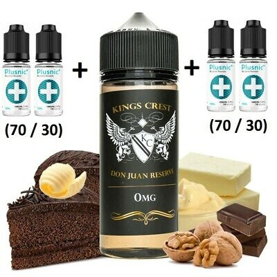E-liquid Kings Crest DON JUAN RESERVE -100ml -0mg -BOOSTER +4 Nicokits 18mg 10ml