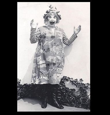 Scary Vintage Creepy Clown PHOTO Freak Weird Halloween Costume Circus Happy