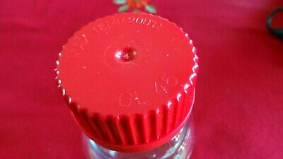New - 250Ml Borosilicate Glass Reagent Bottle Simax Duran Pyrex With Red Cap