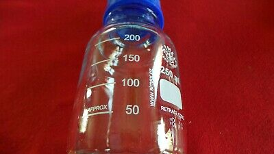 New - 250Ml Borosilicate Glass Reagent Bottle Simax Duran Pyrex