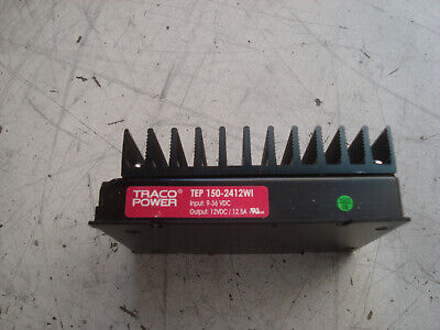 TRACOPOWER TEP 150-2412WI  in 9/36V out 12V 12.5A