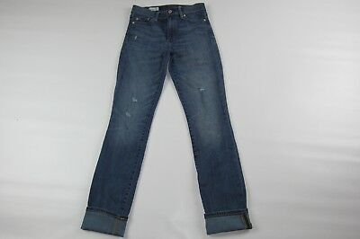 "Women GAP 1969 Slim Straight Distressed Jeans Size 25 R (Length 31"")"