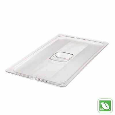 Rubbermaid FG134P86CLR Full Size Cold Food Pan Cover with Notch