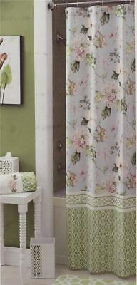 Shower Curtains Pink And Brown.Croscill Paradise Shower Curtain Pink Green Blue Brown White Floral