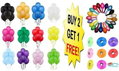 10 X Latex PLAIN BALOON BALLONS helium BALLOONS Quality Party Birthday Uk Seller
