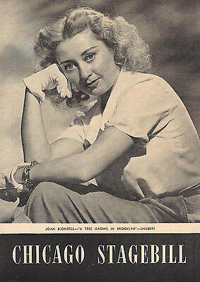 "Joan Blondell ""A TREE GROWS IN BROOKLYN"" Robert Shackleton 1952 Chicago Playbill"