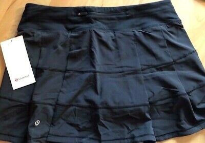 250bf9942 NWT LULULEMON Pace Rival Skirt size 10T Tall Black Tennis Golf Run 4 Way  Stretch