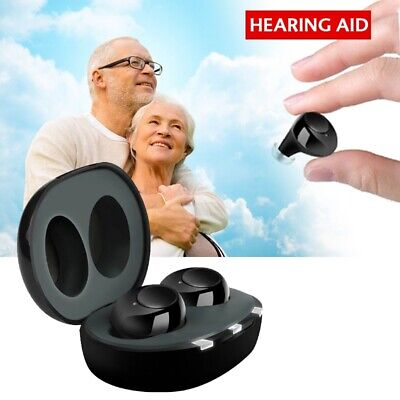 2019 New AU Hearing Aid Mini Rechargeable Invisible Hearing Aids 2PCS