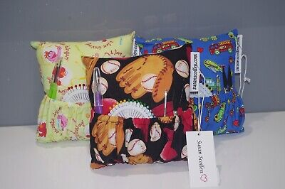 Hand crafted deluxe pin cushions by Susan Scollen - Teddy Collection
