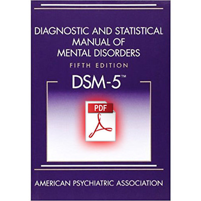 Diagnostic and Statistical Manual of Mental Disorders 5th Edition Dsm5 Paperback