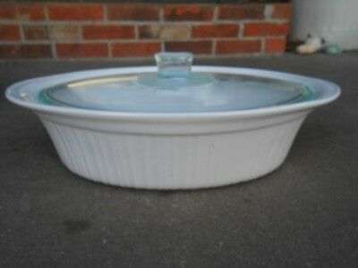 Corning Ware FRENCH WHITE  4 QUART OVAL COVERED CASSEROLE BOWL