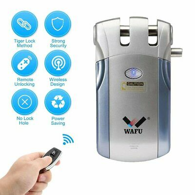 Security Keyless Smart Remote Door Locks Wireless Invisible Lock