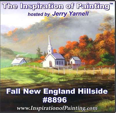 Jerry Yarnell dvd FALL NEW ENGLAND HILLSIDE #8896 acrylic painting art lesson