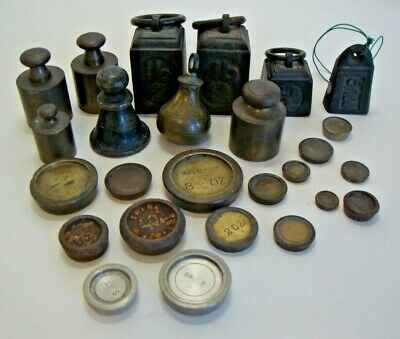 Collection of various antique and vintage weights