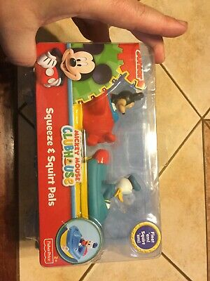 Disney Mickey Mouse & Donald Duck Squeeze & Squirt Pals Bath tub toys 2+ NEW