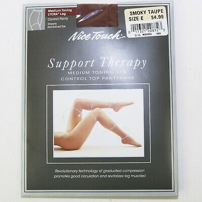 12f10f9380b NICE TOUCH SUPPORT Therapy Medium Toning Pantyhose - Size E