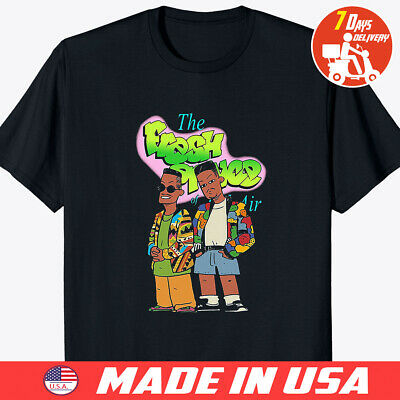 The Fresh Prince of Bel Air Will Smith T Shirt Black Size S to 4XL