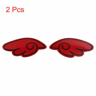 2pcs Reflector Stickers Car Safety Warning Tape Strip Decal Red Wing Pattern