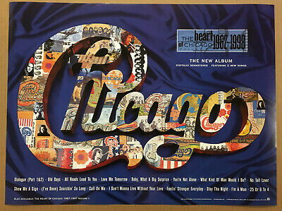 Peter Cetera CHICAGO Rare 1998 PROMO POSTER for Heart CD USA 24x18 MINT USA